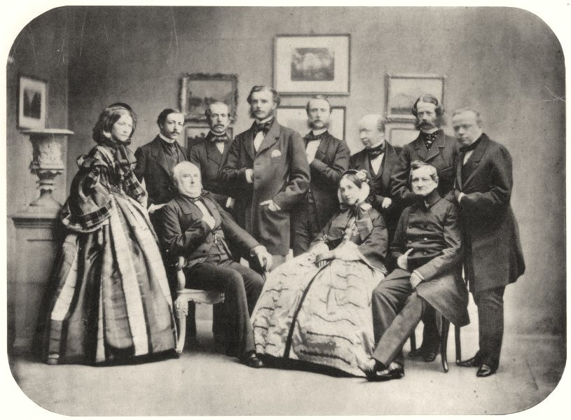 Associate Product PEERS. Group of friends. Countess Lohenthal, Count Vitzthum, Voss. c.1860 1935
