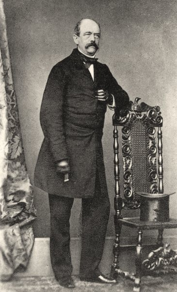 Associate Product GERMANY. Portrait of Bismarck, c.1865 1935 old vintage print picture