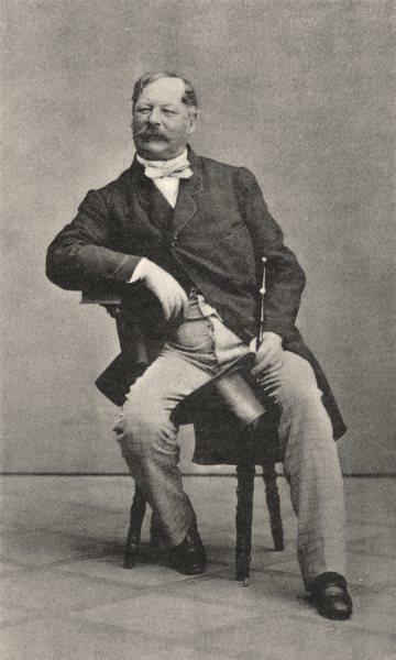 Associate Product MILITARIA. Portrait of Baron von Stampach, 1862 1935 old vintage print picture