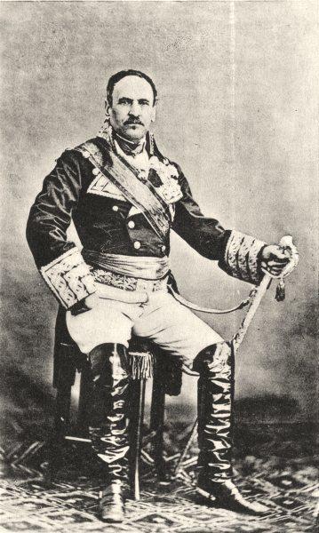 Associate Product MILITARIA. Portrait of Général General Espartero, c.1865 1935 old print
