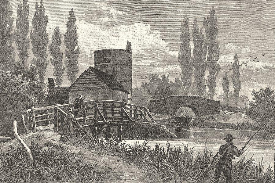OXFORDSHIRE. Inglesham round house 1901 old antique vintage print picture