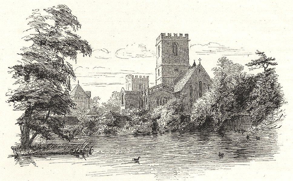 Associate Product OXFORDSHIRE. Stanton Harcourt church 1901 old antique vintage print picture