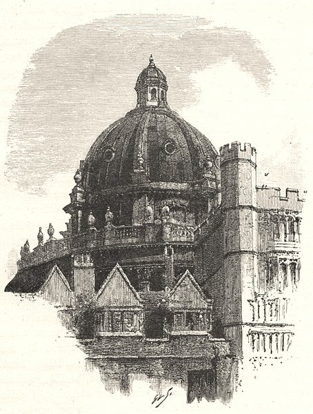 Associate Product OXFORD. The dome of the Radcliffe, from Brasenose 1901 old antique print