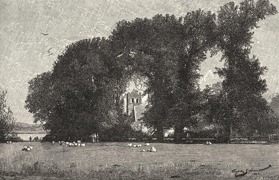 Associate Product BERKSHIRE. Bisham Church 1901 old antique vintage print picture