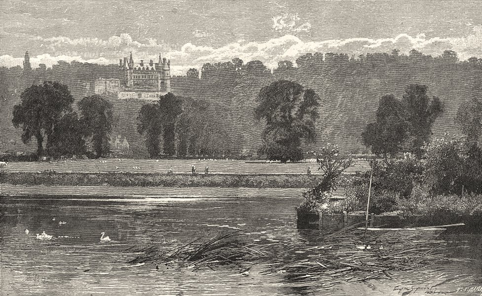 Associate Product LONDON. Richmond. The Meadows and the park 1901 old antique print picture