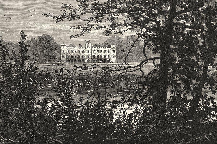 LONDON. Sion House 1901 old antique vintage print picture
