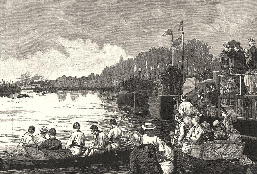 Associate Product LONDON. The University Boat- Race 1901 old antique vintage print picture