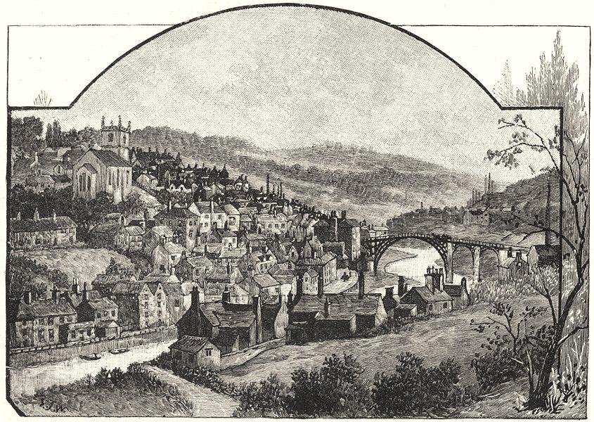 SHROPSHIRE. Ironbridge 1901 old antique vintage print picture