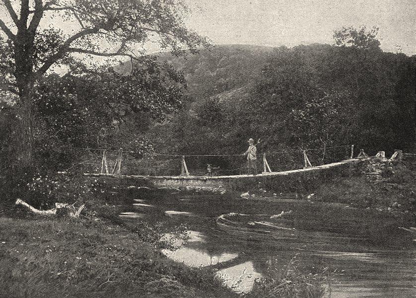 Associate Product WALES. The Shaky bridge, Llandrindod 1901 old antique vintage print picture