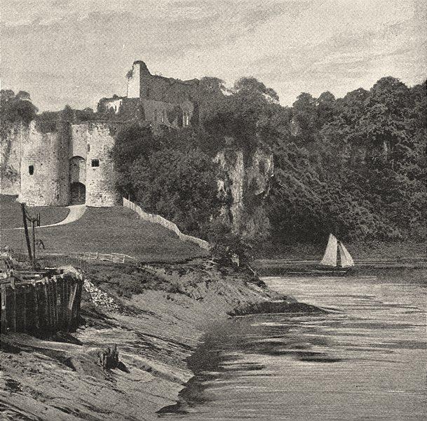 Associate Product WALES. Chepstow Castle 1901 old antique vintage print picture
