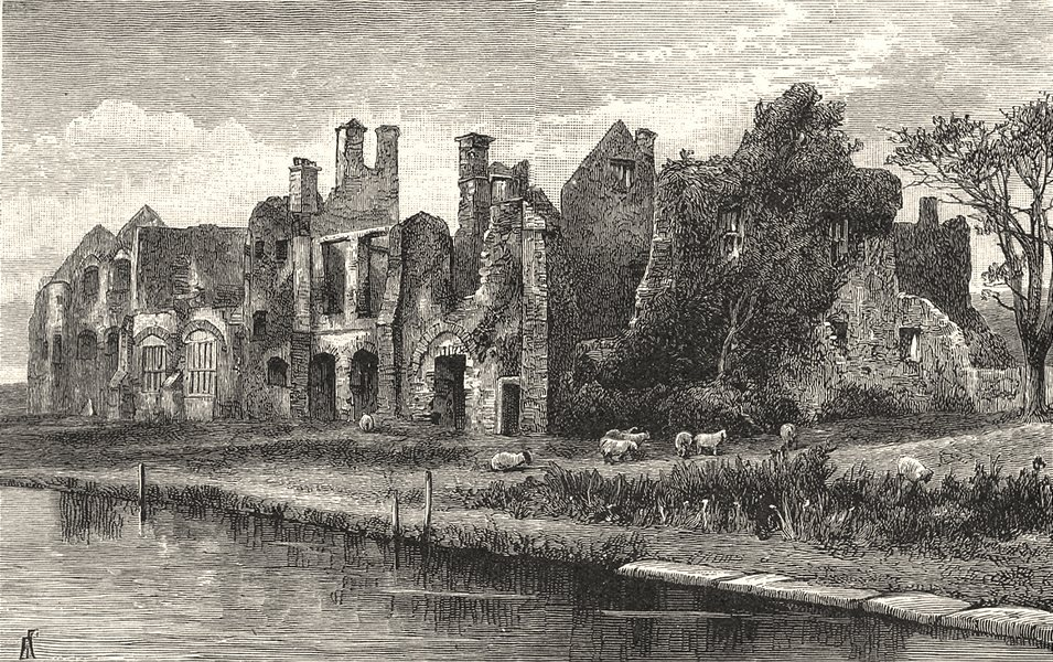 WALES. Neath Abbey 1901 old antique vintage print picture