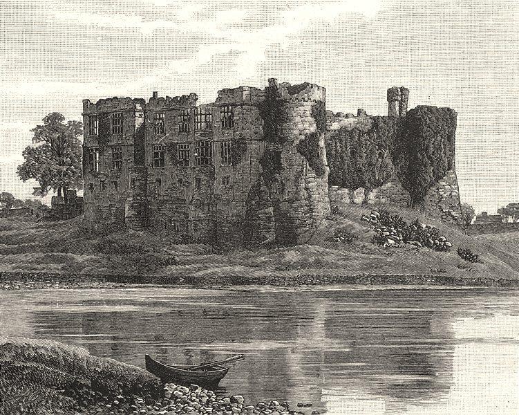 Associate Product WALES. Carew castle 1901 old antique vintage print picture