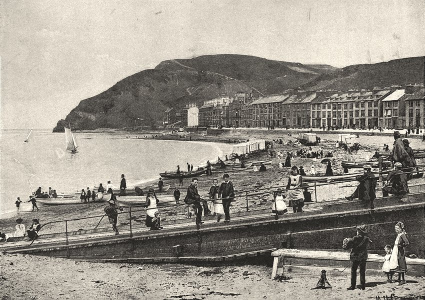 WALES. Aberystwyth (1)  1901 old antique vintage print picture