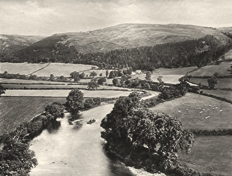 Associate Product HEREFORDSHIRE. The Dee Valley from Glendower's mound 1901 old antique print