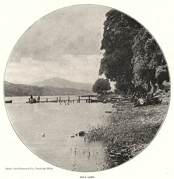 Associate Product WALES. Bala Lake 1901 old antique vintage print picture