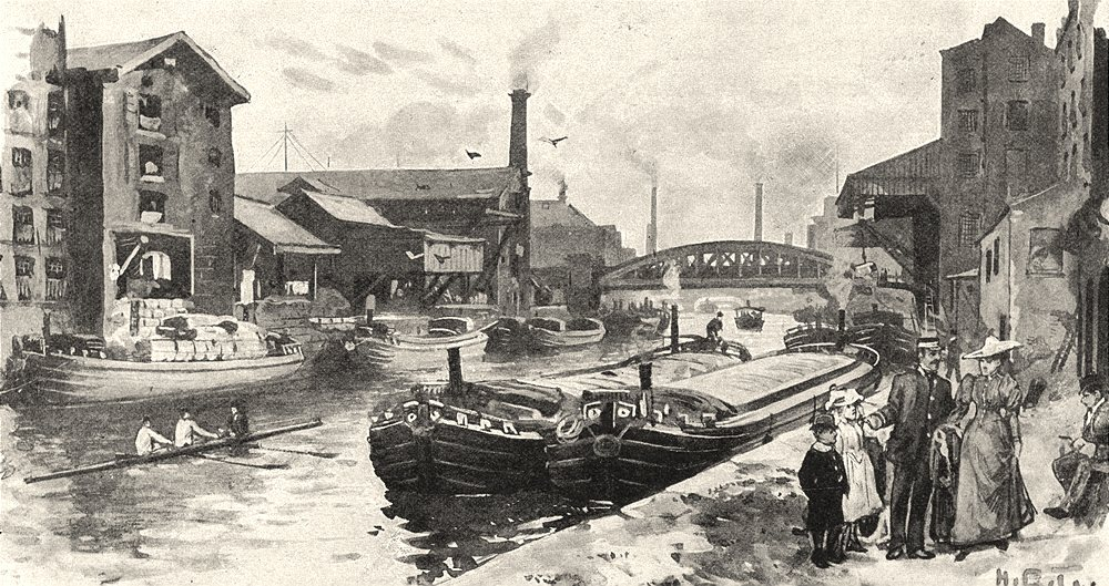 Associate Product LANCASHIRE. On the Irwell 1901 old antique vintage print picture