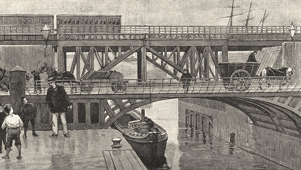 LIVERPOOL. Swing- bridge over the entrance to Stanley Dock, Liverpool 1901