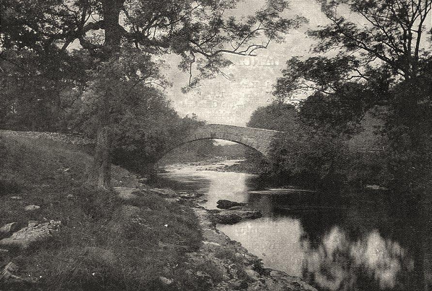 Associate Product YORKSHIRE. Stainforth Bridge 1901 old antique vintage print picture
