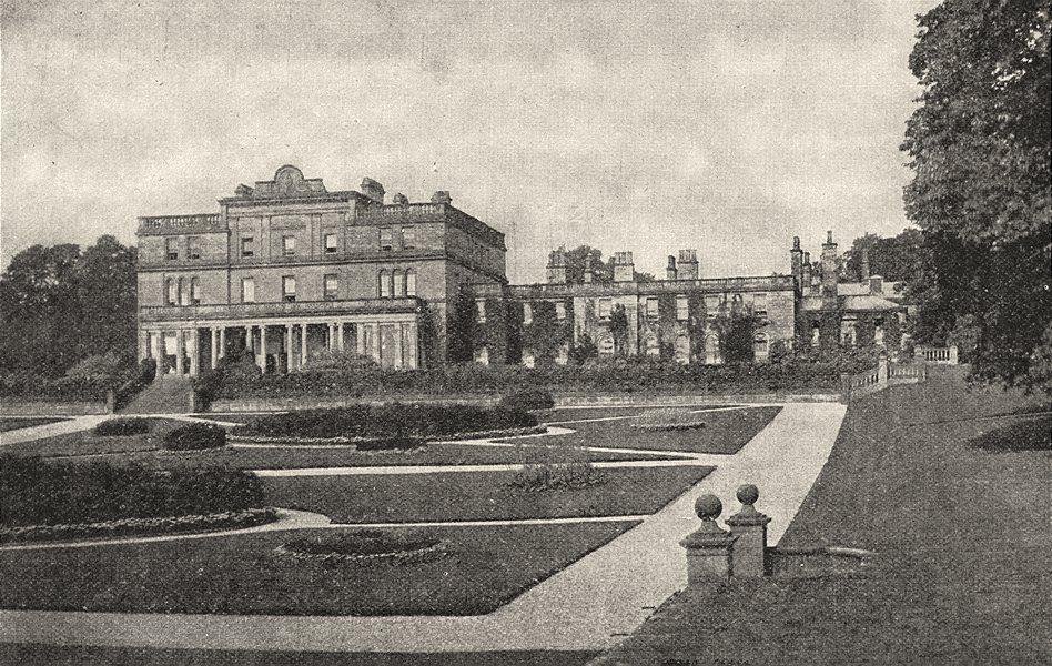CUMBRIA. Eden Hall 1901 old antique vintage print picture
