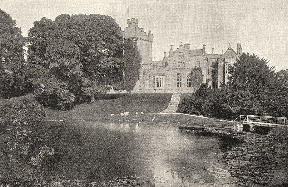 CUMBRIA. Greystoke Castle 1901 old antique vintage print picture