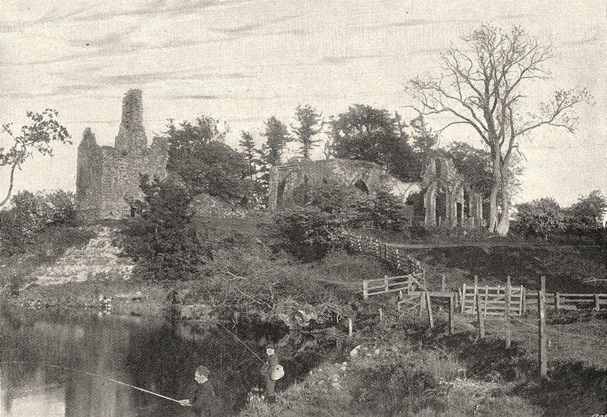 Associate Product SCOTLAND. Lincluden Abbey 1901 old antique vintage print picture