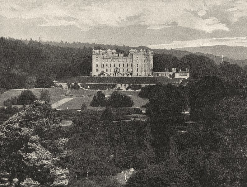 Associate Product SCOTLAND. Drumlanrig Castle 1901 old antique vintage print picture