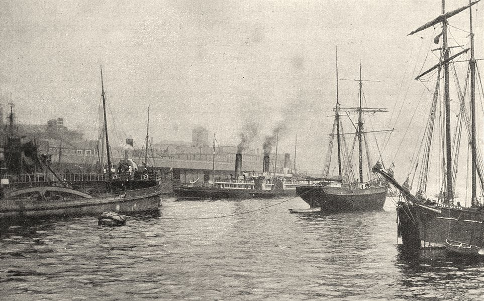 Associate Product SCOTLAND. The Clyde at Glasgow (1)  1901 old antique vintage print picture