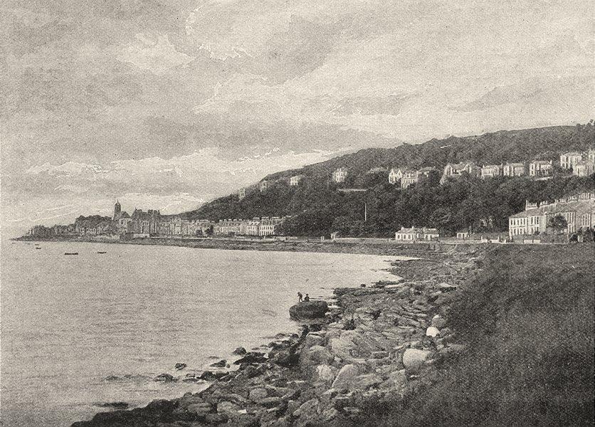 SCOTLAND. Gourock 1901 old antique vintage print picture
