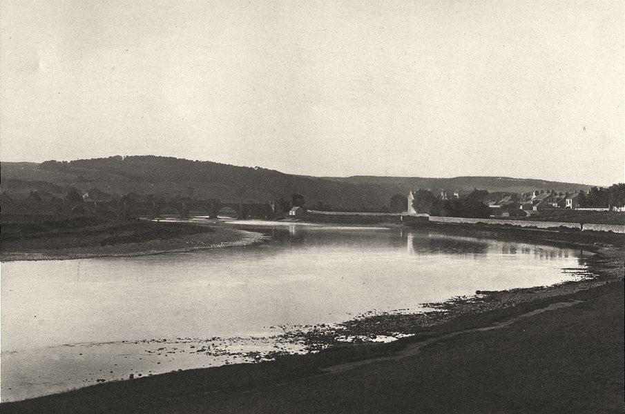 Associate Product SCOTLAND. Bridge of Dee, Aberdeen 1901 old antique vintage print picture