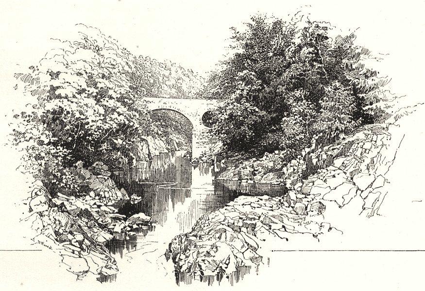 Associate Product SCOTLAND. Bridge of Garry 1901 old antique vintage print picture