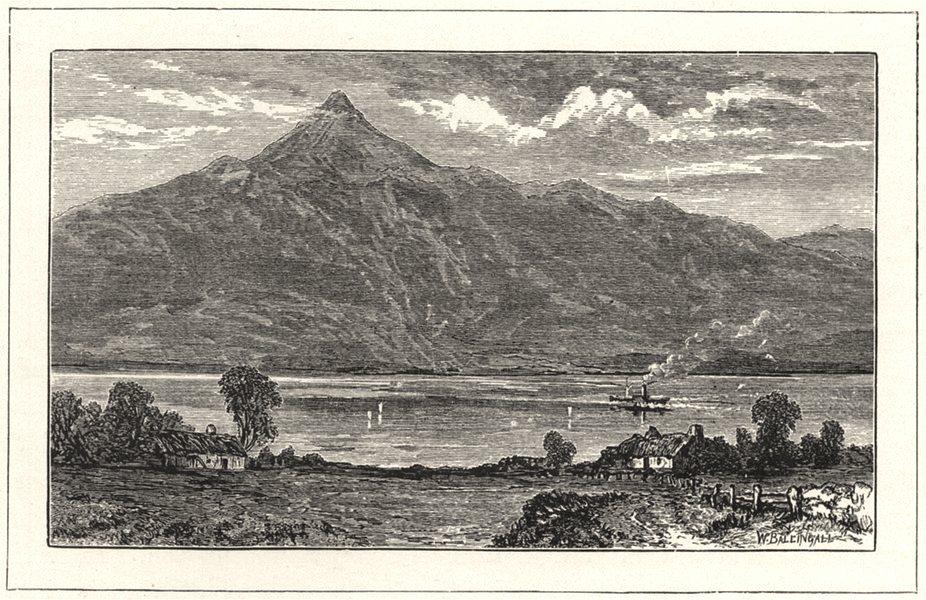 Associate Product SCOTLAND. Ben and Loch Lomond 1901 old antique vintage print picture