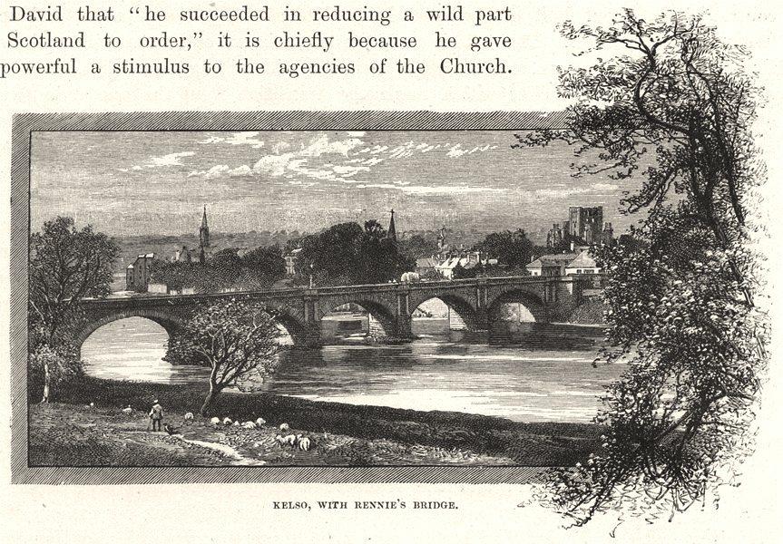 Associate Product SCOTLAND. Kelso, with Rennie's bridge 1901 old antique vintage print picture