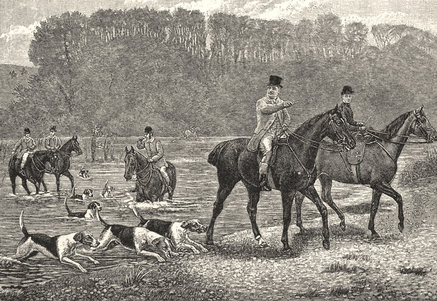 NORTHUMBERLAND. Hunting on Coquetside 1901 old antique vintage print picture