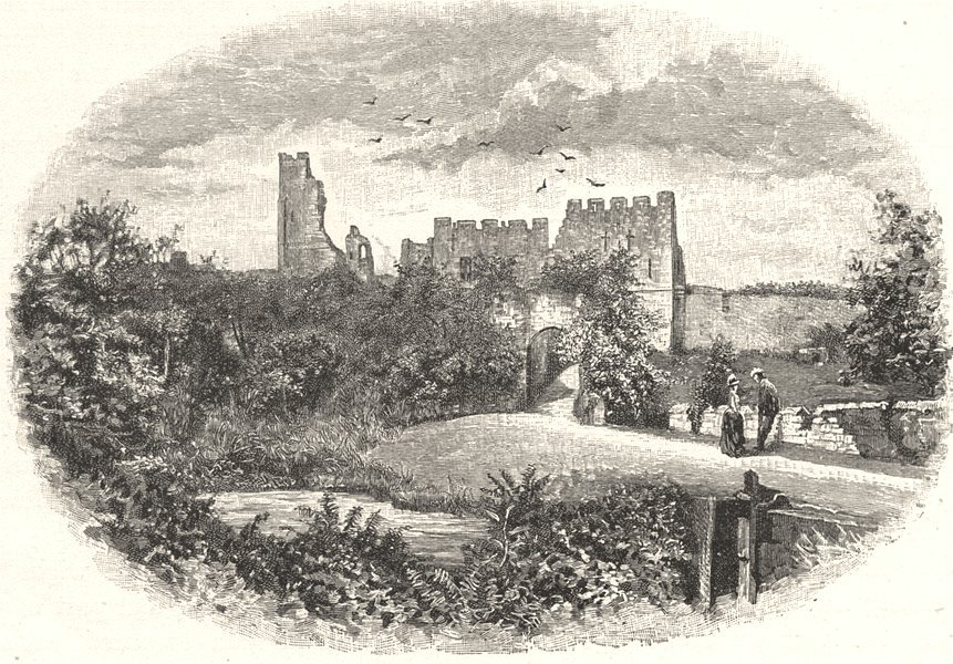 Associate Product NORTHUMBERLAND. Prudhoe castle 1901 old antique vintage print picture