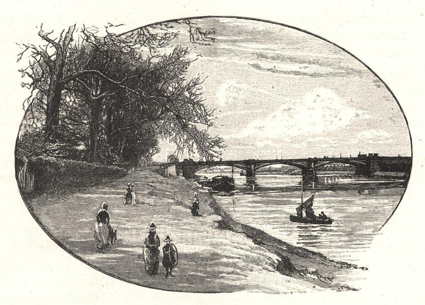 Associate Product NOTTINGHAMSHIRE. Trent bridge, Nottingham 1901 old antique print picture