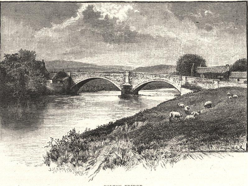 Associate Product YORKSHIRE. Bolton Bridge 1901 old antique vintage print picture