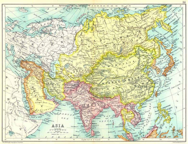 India Map Asia.Asia Arabia Turkey Persia Siberia India Siam Anam Afghanistan Japan