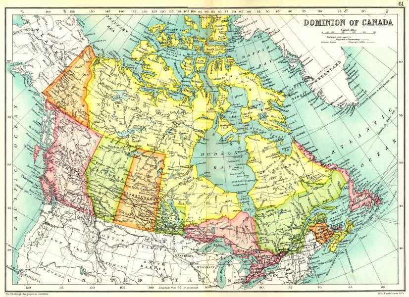 Associate Product CANADA. Dominion of Canada showing provinces and territories 1909 old map