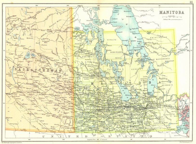 Associate Product MANITOBA. Showing municipalities. Canada. Cassells 1909 old antique map chart
