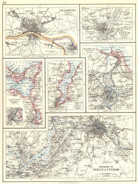 Associate Product GERMANY. Berlin Potsdam Frankfurt Munich Szczecin Kiel Gdansk Danzig 1897 map