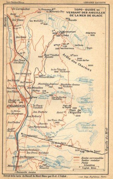 Associate Product HAUTE- SAVOIE. Topo- guide du Versant des Aiguilles de Lamer de Glace 1925 map