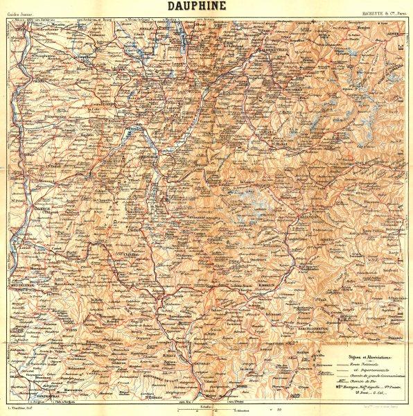 Associate Product FRANCE. Dauphiné 1899 old antique vintage map plan chart