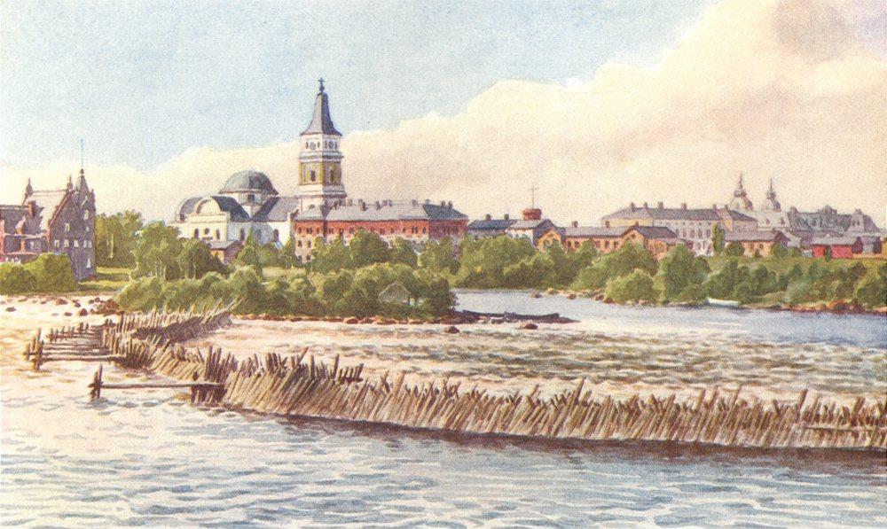 Associate Product FINLAND. Uleåborg 1908 old antique vintage print picture