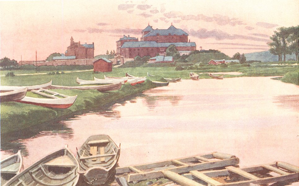 Associate Product FINLAND. Tavastehus Castle 1908 old antique vintage print picture