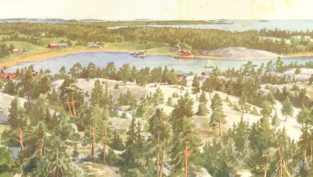 Associate Product FINLAND. Hangö Fjord 1908 old antique vintage print picture