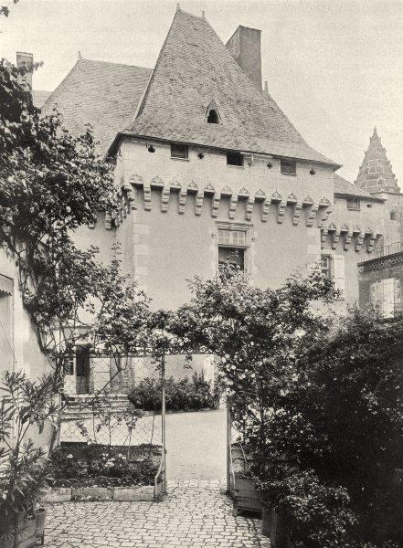 CHARENTE. Barbezieux- Ancien château 1904 old antique vintage print picture