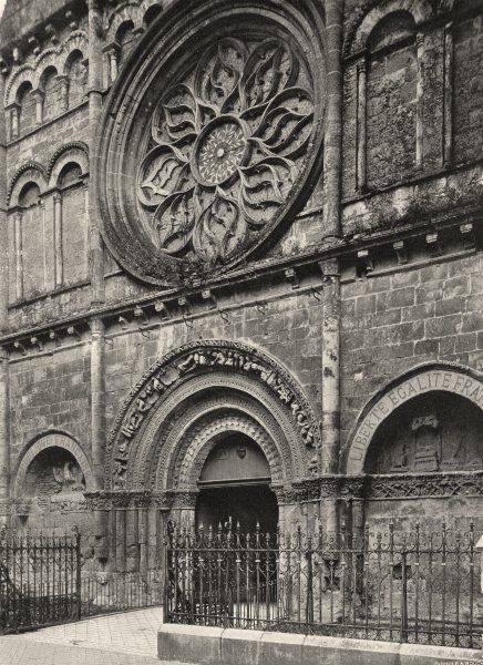 Associate Product CHARENTE. Cognac- Portail de la cathédrale 1904 old antique print picture