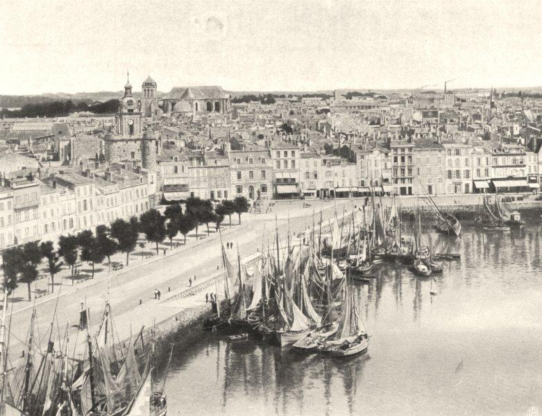 Associate Product CHARENTE-MARITIME. La Rochelle- Vue générale 1904 old antique print picture