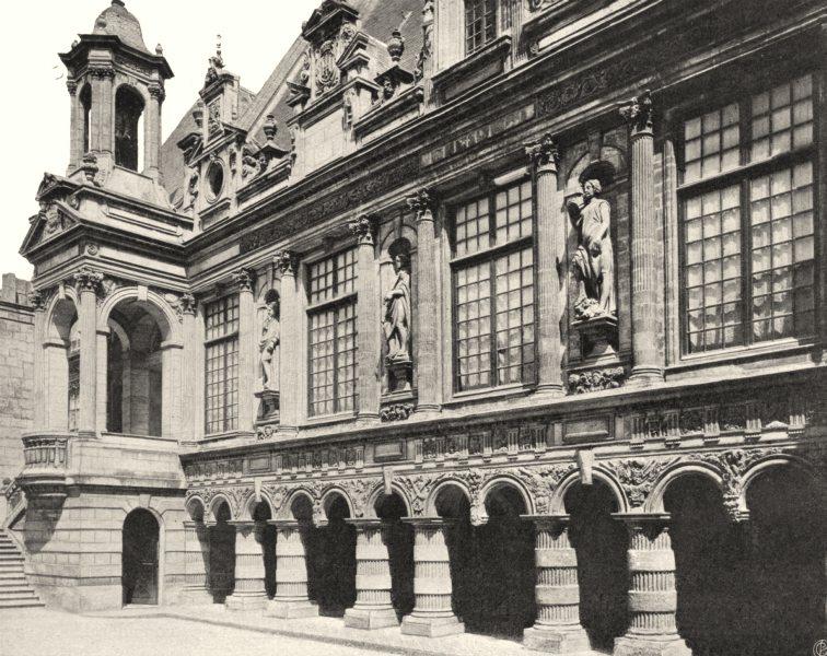 Associate Product CHARENTE-MARITIME. La Rochelle- Cour de I'hôtel de ville 1904 old print