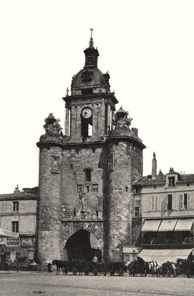 Associate Product CHARENTE-MARITIME. La Rochelle- Porte de l'Horloge 1904 old antique print